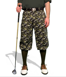 Golf Knickers Men's Camo Series Woodland Camo Golf Knickers & Cap
