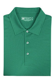 Bermuda Sands Men's Tonal Micro Stripe Polo - Essex - Caribbean Green
