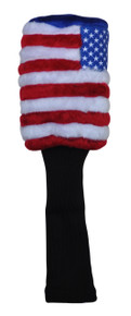 USA Flag Fuzzy Barrel Headcover by EverGolf