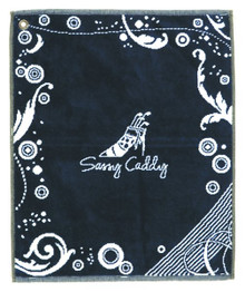 Sassy Caddy Navy Golf Towel