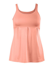 Tail Activewear - Lotus Empire Waist Tank w/ Compression Bra  (Papaya) Large - SALE
