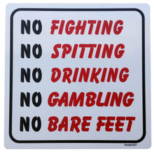 "Caddyshack  ""No Fighting"" Metal Sign"