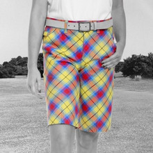 Royal & Awesome Women's Golf Shorts - Plaid Awesome Tartan - SALE