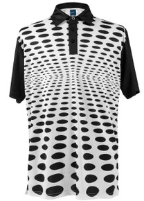 ReadyGOLF Mens Golf Polo Shirt - Holey Polo