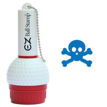 My Ball Stamp EZ Ball Stamp - Skull & Crossbones Blue