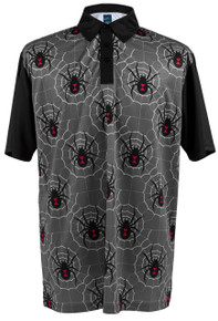 ReadyGOLF Mens Golf Polo Shirt - Black Widow Grey