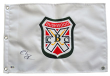 Chevy Chase Signed CaddyShack Embroidered Bushwood Crest Golf Pin Flag