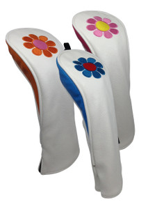 ReadyGolf Hybrid (Set of 3) Headcovers- Flower Power