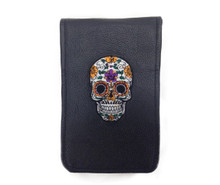 Sunfish - Sugar Skull – Leather Scorecard and Yardage Book Holder