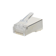 Bag of 100 Shielded Stranded RJ45 Connectors, Cat5e