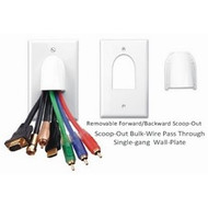PowerBridge Bull-Nose Pass-Through Wall Plate