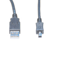 6 Foot USB 2.0 Cable, A Male To Mini B, 4 Pin Male