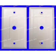Decorator Economy Single Blank Hex Insert Wall Plate