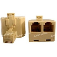 RJ11, 4 Conductor Telephone Adapter