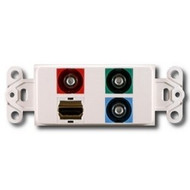 PowerBridge Decora Insert, HDMI + Componenet Video