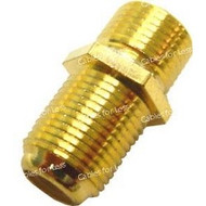 F-Type Coupler, Female To Female, Gold