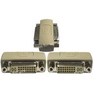 DVI Coupler Female To Female Gender Changer, Beige With Gold Plated Contacts