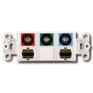 PowerBridge Decora Insert, Dual HDMI + Component Video