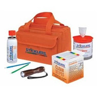 Sticklers Fiber Optic Cleaning Kit Orange canvas bag