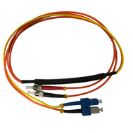3 Meter ST- 62.5/125 MM/SC- SM Mode Conditioning Fiber Optic Patch Cable (SC Equip / ST Plant)
