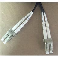 100 Foot Indoor/Outdoor MultiMode Fiber (62.5/125) 2.0MM LC/LC (Black Jacket)