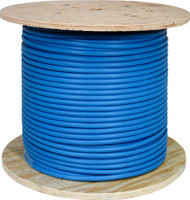 Blue Shielded CAT6 Plenum