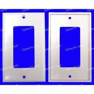 CLOSEOUT - No Returns On DISCONTINUED Items PowerBridge Decora Wall Plate Cover, Single Gang
