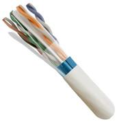 White CAT6, Shielded (STP), 23AWG, Plenum (CMP), 1000ft Spool