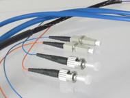 Overstock Custom 3 Meter Fiber OM3 Multimode  Duplex, LC-ST Blue Plenum 2 Fiber Round