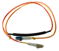1 Meter LC- 50/125 OM2 MM/LC- SM Mode Conditioning Fiber Optic Patch Cable (LC Equip / LC Plant)