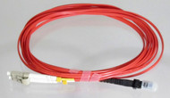 Overstock Custom 3 Meter Fiber OM1 Multimode Duplex, LC-MTRJ (Red Jacket)