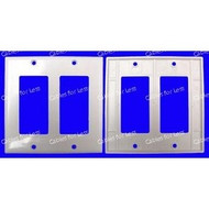Decorator Double Gang White Wall Plate