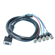 6 Foot SVGA Male HD15 To BNCx5 Cable
