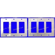 Decorator Triple Gang White Wall Plate