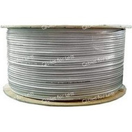 RG59 + 18AWG-2 Bulk CCTV Cable, 500 Foot Roll - White