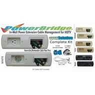 CLOSEOUT - No Returns On DISCONTINUED Items White - PowerBridge Total Solution Power + AV CablePass Kit With 6 Foot NM-B