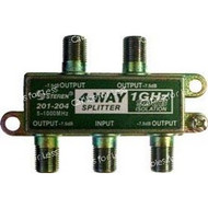 Cable CaTV F-Type 1Ghz 90Db 4-Way Splitter