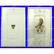 Decorator Single 6P4C Phone Jack Wall Plate