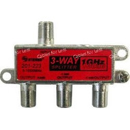 Cable CaTV F-Type 1Ghz 130Db 3-Way Splitter