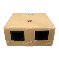 CLOSEOUT - No Returns On DISCONTINUED Items Surface Mount Box, Cat5 RJ45, Dual, Beige