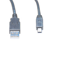 10 Foot USB 2.0 Cable, A Male To Mini B, 5 Pin Male