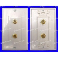 CLOSEOUT - No Returns On DISCONTINUED Items, Decorator Double F-Type Jack Wall Plate, Female To Female