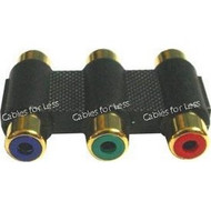 Component Video RCA Coupler X3 Female To Female, Gold Plated