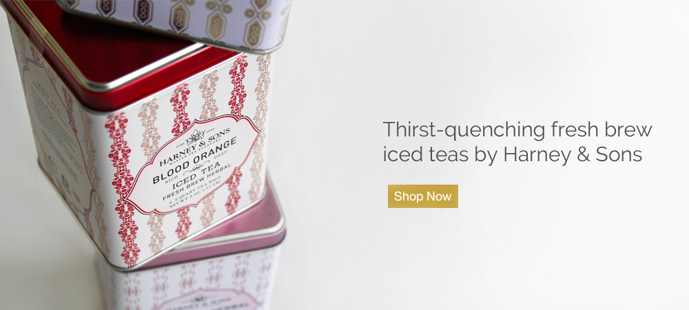 Thirst-quenching fresh brew iced teas by Harney & Sons