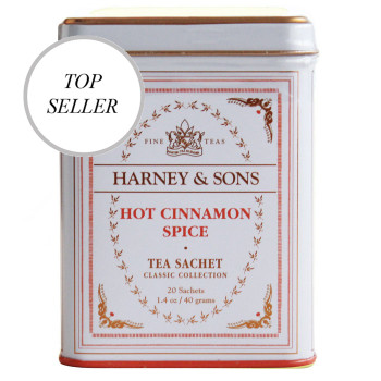 Harney & Sons Hot Cinnamon Spice 20 Sachet Tin