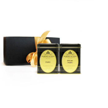 A gift set with Harney & Sons Paris and Decaf Paris Loose-Leaf Teas.