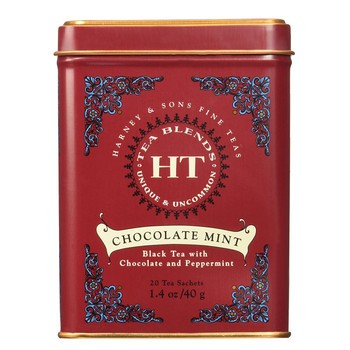 Harney & Sons HT Chocolate Mint 20 Sachet Tin