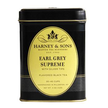 Harney & Sons Earl Grey Supreme 4 oz loose tea tin.