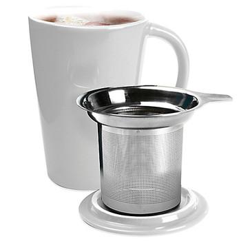 Ceramic Tea Mug with Infuser (14oz)