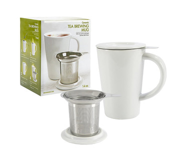 Primula® Abbey  Ceramic Tea Mug with Infuser (14oz)